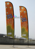 Bandierina esterna della piuma che fa pubblicità alla bandiera materiale della spiaggia di volo del poliestere