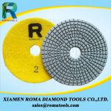 Romatools 다이아몬드 닦는 패드는 화강암, 대리석을%s 사용을 적셨다