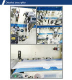 Neue Technik-vollautomatischer Wegwerfzug auf den erwachsenen Windel-Windeln, die Maschinen-Zeile bilden