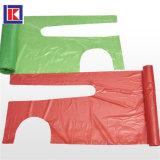 롤에 빨간 LDPE/HDPE 처분할 수 있는 플라스틱 PE 앞치마