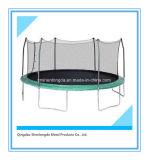 Круглый половинный Trampoline Поляк с внутренней сетью безопасности