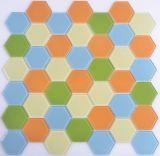 Mosaico de vidrio hexagonal Handpainting