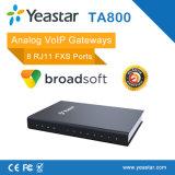 Yeastar SIP ATA 게이트웨이 8 Rj11 FXS 운반 아날로그 VoIP 게이트웨이