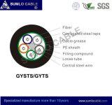 Cable de fibra óptica de Gysts/GYTS (el tipo metálico, trenza el tubo flojo, la cinta de acero acanalada acorazados)