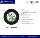 Gysts/GYTSの光ファイバケーブル(金属タイプは、装甲緩い管、波形の鋼鉄テープを残す)