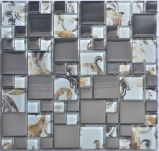 Miscela di vetro posteriore del mosaico della stagnola con acciaio inossidabile