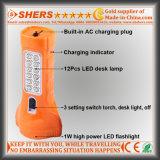 Linterna recargable de 1W LED con la lámpara del estudio de 12PCS LED (SH-1912)