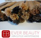 100%の人間のRemyの毛のケラチンの毛の拡張小型先端の毛