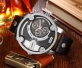 Cagarny 6819 толкателей случая серебра Wristwatch Mens многофункциональных и малых шкалы