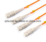 Ponticello ottico duplex Patchcord di fibra ottica della fibra dello Sc-Sc millimetro