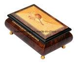 Caixa de presente de madeira da música do revestimento elevado do piano do lustro
