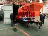 Elektrische Betonpumpe mit dem Mischer angeschalten durch Generator des Diesel-120kw