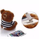 Крен силы плюшевого медвежонка новой конструкции 2017 роскошный на iPhone 6 внешний заряжатель батареи 6 добавочный 5s для всего мобильного телефона