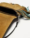 Sacos pequenos da forma das senhoras do desenhador feitos do couro do plutônio com Tessels