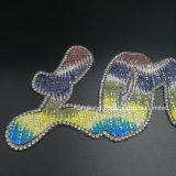 Liebes-Alphabet-Eisen auf Rhinestone-Wärmeübertragung-Änderung- am Objektprogrammheiße Verlegenheits-Motive Strass KristallApplique für DIY (TS-Liebe)