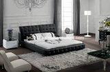 熱い販売の本革のベッド(SBT-5828)