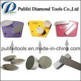 Segmento de moedura concreto do diamante da ligação do metal da forma da seta para o assoalho