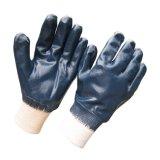 Guanto protettivo completamente tuffato del lavoro di sicurezza dei guanti blu del nitrile