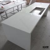 Bancadas de mármore de superfície contínuas de pedra artificiais brancas da cozinha (C1705267)
