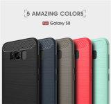 Nuova cassa del telefono della fibra del carbonio di disegno 2017 per la galassia S8 di Samsung
