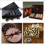 Rectángulo de regalo de encargo del papel del chocolate del OEM con los bolsos