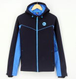 SS17 Atacado novo design personalizado Homens Softshel Bondedl zip através capuz Hoodies Jacket