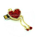 Lecteur flash USB de collier de Rose de carte mémoire Memory Stick de bijou