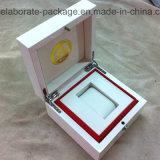 Kundenspezifischer hölzerner weißer glatter Uhr-Paket-Kasten-Geschenk-Luxuxkasten