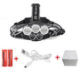 防水10000lm 3*T6 2*Q5 USBのヘッドライト5 LEDのヘッドライト
