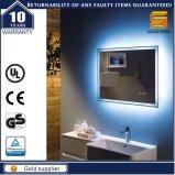 Le TUV marquent le miroir allumé par DEL éclairé à contre-jour par salle de bains de garniture d'antibuée