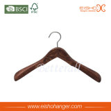 Gancio di cappotto di legno della spalla larga antica con bello grano di legno