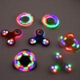 Spinner de gyro à doigts en plastique ABS populaire avec éclairage LED couleur