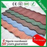 Mattonelle di tetto rivestite del metallo di colore della pietra decorativa Fadeless del metallo