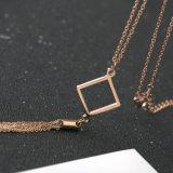 Strickjacke-Troddel-Anhänger-Halskette der Spitzenform-Schmucksache-Frauen