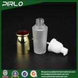 Botella de cristal de la superficie 40ml de la bomba mate de la loción con la botella cosmética recargable del aerosol de la crema del cuidado de piel del casquillo de aluminio con el rociador de la bomba