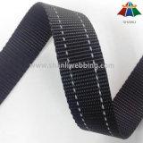 Il nero due di 1 pollice ha barrato la tessitura riflettente del poliestere per il collare di cane ed il guinzaglio