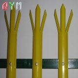 Clôture de la palissade en acier de la palissade de piquetage de clôtures en métal