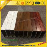 Perfil de alumínio da extrusão para a mobília com grão de madeira