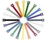Mehrfachverwendbares Nylon zurück zu rückseitigem magischem Band-Kabelbinder-Haken u. Schleife