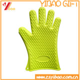 Luva colorida de silicone resistente à abrasão sem resistência (YB-HR-3)