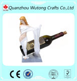 Figura atractiva sostenedor de la muchacha de la resina de la botella de cerveza de la resina del sostenedor del vino