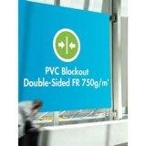 Materiale pubblicitario 100% di Blockout di alta qualità della bandiera del doppio di opacità stampabile rivestita del lato