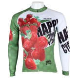 Куртка спортов клубники зеленая свежая покрывает Джерси людей задействуя
