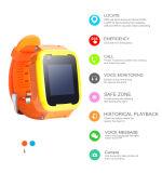 Perseguidor elegante del GPS del reloj de teléfono de los niños de dos vías de la llamada