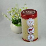 Nahrungsmittelspeicher-runder Geschenk-Süßigkeit-Metallzinn-Kasten