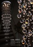 Lumière pendante en cristal de vente chaude pour l'hôtel et le restaurant Om730