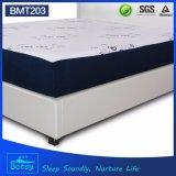 El colchón rebanado comprimido OEM los 25cm de la espuma altos con espuma de la memoria del gel e hizo punto la cubierta de la cremallera de la tela
