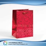 Sac de transporteur de empaquetage estampé de papier pour les vêtements de cadeau d'achats (XC-bgg-042)
