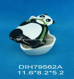 Biscotto del panda/contenitore di ceramica dipinti a mano di caramella