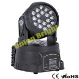 Mini lumière principale mobile d'effet de lavage de DEL 18X3w